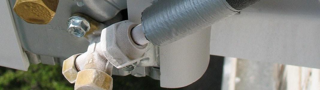 Обмерзший кран кондиционера